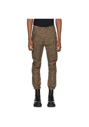 R13 Brown Leopard Military Cargo Pants