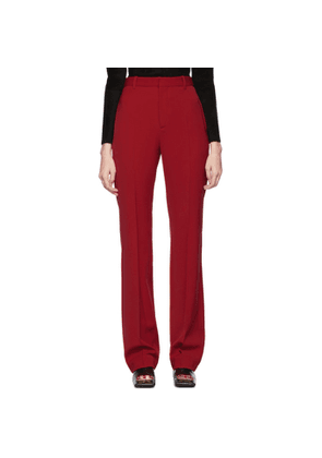 Balenciaga Red Tailored Trousers