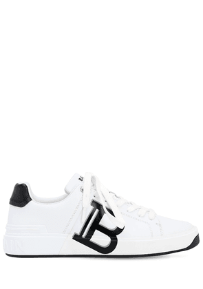 Printed Leather B-court Lowtop Sneakers