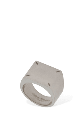 Brushed Square Silver Ring