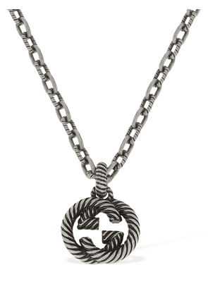 Small Interlocking G Chain Necklace