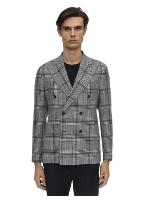 Double Breasted Cotton Linen Jacket