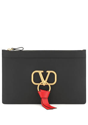 Valentino Garavani VRING leather clutch