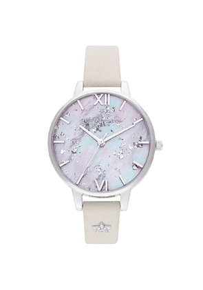 Celestial Star Mother of Pearl Demi Dial Watch - Silver & Blush