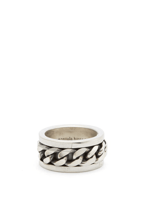 Emanuele Bicocchi - Curb-chain Sterling-silver Ring - Mens - Silver