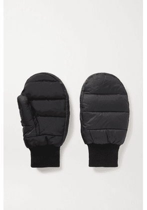 Holzweiler - Bubble Padded Shell And Stretch-jersey Mittens - Black