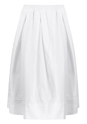 Fay pleated A-line skirt - White