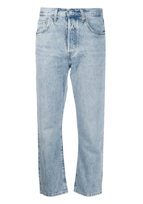 Levi's stonewashed cropped jeans - Blue