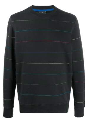 PS Paul Smith long sleeve striped pattern sweater - Black