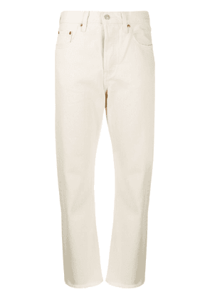 Levi's 501 high-rise straight jeans - White