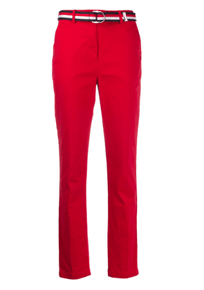 Tommy Hilfiger belted straight-leg trousers - Red