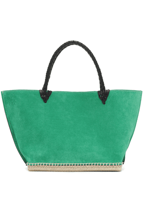 The Espadrille suede tote