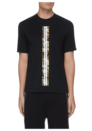 Camo graphic stripe print performance T-shirt