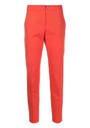 Fay high-rise cropped tapered trousers - ORANGE