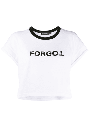 Dolce & Gabbana forgot print cropped T-shirt - White