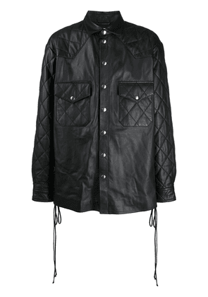 Faith Connexion quilted leather shirt - Black