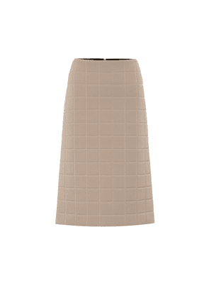 Quilted midi skirt