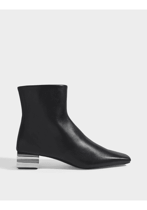 Typo 50 Ankle Boots in Black Leather