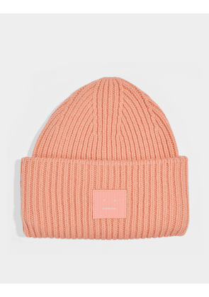 Pansy N Face Beanie in Pale Pink Wool