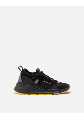 Dolce & Gabbana Shoes - DAYMASTER SNEAKERS IN MIXED MATERIALS BLACK