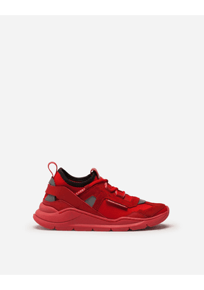 Dolce & Gabbana Shoes - DAYMASTER SNEAKERS IN MIXED MATERIALS RED