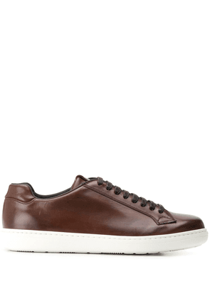 Church's stitched-eyestay low-top trainers - Brown