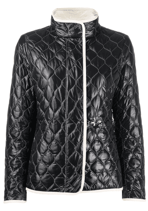 Fay long sleeve quilted pattern jacket - Black