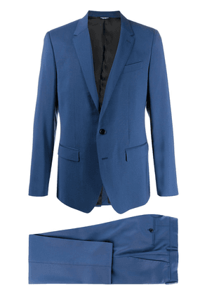 Dolce & Gabbana single-breasted tailored suit - Blue
