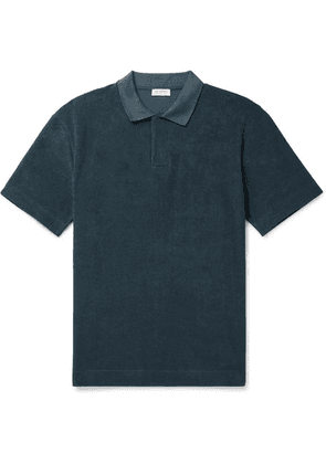 Sunspel - Organic Cotton-terry Polo Shirt - Petrol