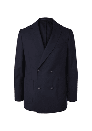 Officine Generale - Navy Leon Unstructured Double-breasted Wool Blazer - Navy