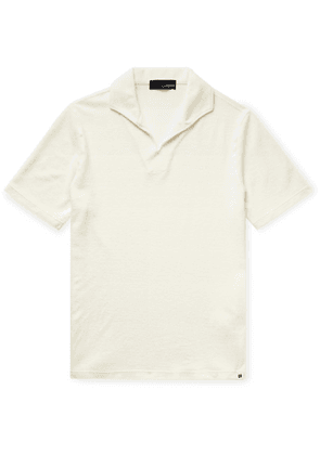 Lardini - Slim-fit Cotton-blend Terry Polo Shirt - Ivory