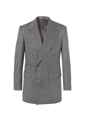 Maximilian Mogg - Grey Pinstriped Super 120s Wool-flannel Suit - Gray