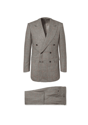 Maximilian Mogg - Grey Prince Of Wales Checked Wool-flannel Suit - Gray