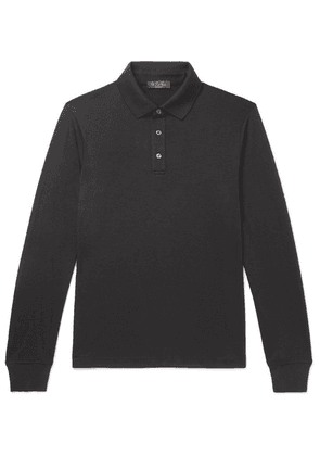 Loro Piana - Cashmere Polo Shirt - Anthracite