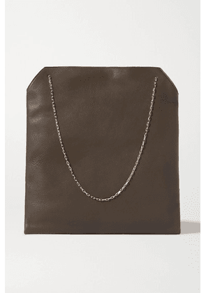 The Row - Lunch Bag Leather Tote - Dark green