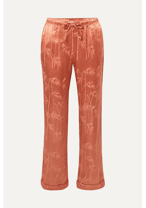 Love Stories - Billy Satin-jacquard Pajama Pants - Brick