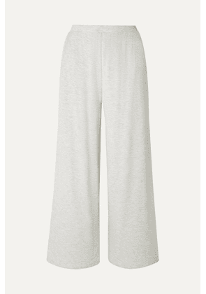 Skin - Lilian Stretch-jersey Pajama Pants - Light gray