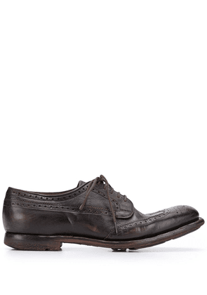 Church's brushed derby shoes - Brown