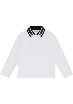 Gucci Kids Web collar polo shirt - White