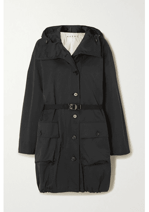 Marni - Hooded Belted Woven Jacket - Black