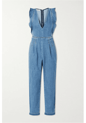 Philosophy di Lorenzo Serafini - Ruffled Denim Jumpsuit - Mid denim