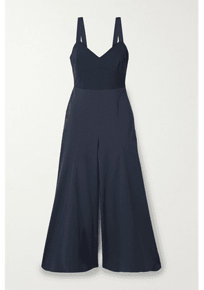 La Ligne - Stretch-jersey And Crepe Jumpsuit - Navy