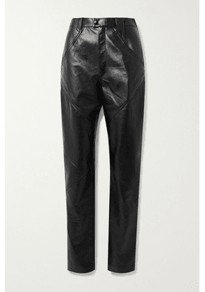 Isabel Marant - Xenia Leather Tapered Pants - Black