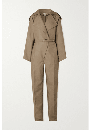 Bottega Veneta - Belted Drill Jumpsuit - Beige