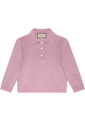 Gucci GG metallic wool polo - PINK