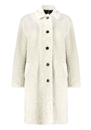 PS Paul Smith faux-shearling single-breasted coat - NEUTRALS