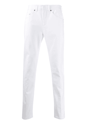 Neil Barrett logo patch slim jeans - White
