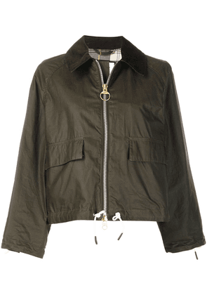 Barbour x Alexa Chung cropped waxed jacket - Green