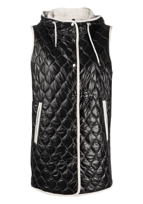 Fay quilted hooded vest - Black