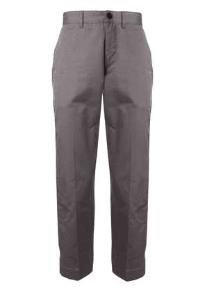 Maison Kitsuné tapered trousers - Grey